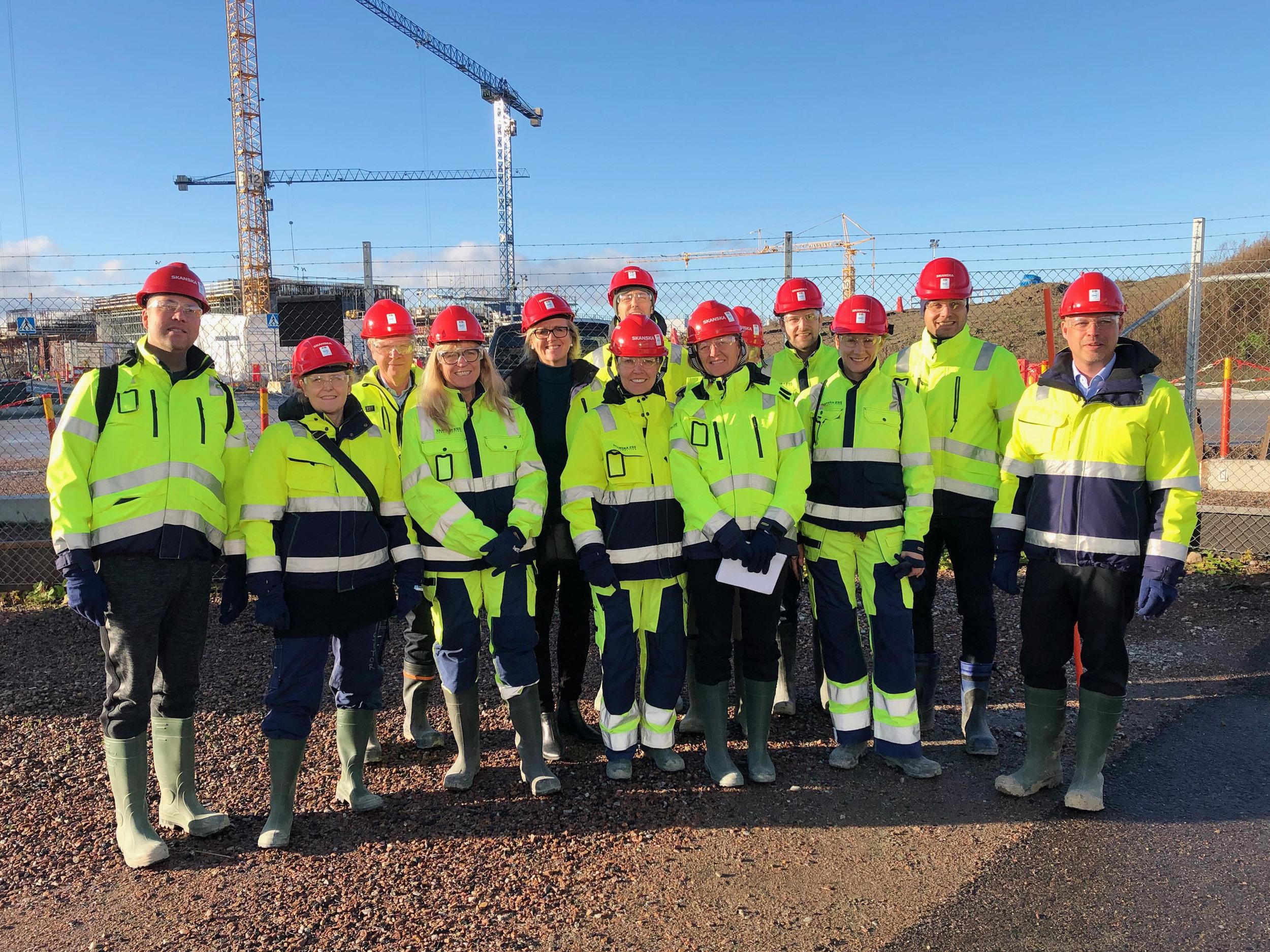 Hela arbetsgruppen från norr till söder samlade för strategidag i Lund och  besök på ESS.