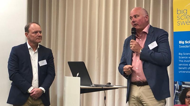 Per Smidfeldt, Skanska och Kent Hedin, ESS Collaboration Contract, beskrev hur man byggt upp sitt samarbete.
