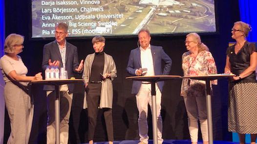 """Vetenskapsrådet i vår paneldebatt:  """"Big Science Sweden ni har gjort ett fantastiskt arbete med att visa på resultat. Kanske kan vi använda den modellen till andra områden."""""""
