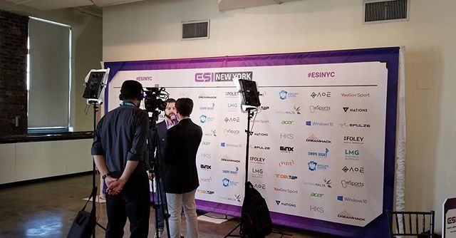 #throwback to #ESINYC a few weeks ago. We had a great time working with this London based company to bring their NYC event to life.  #events #nyc #eventdecor #eventdecals #idoeventdecals