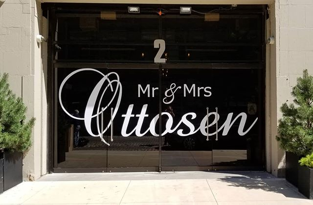 Congratulations to Mr. & Mrs Ottosen. What a way for their guests to arrive at the reception location.  #biggestnames #brideandgroom #tribecarooftop #tribeca360 #nyc #wedding #decoration #decals #vinyl #whitewedding #mrandmrs  #weddingvenue #bestweddingvenue