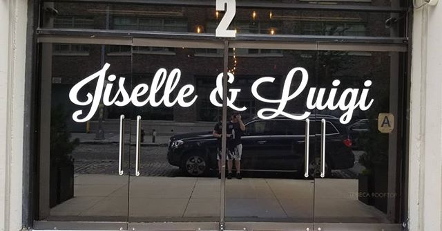 Congrats to Jiselle & Luigi!!! Hoping they had an amazing day at Tribeca Rooftop.  #tribecarooftop #nyc #shipsanywhere #vinyl #decals #happycouple #idoeventdecals #newyorkcity