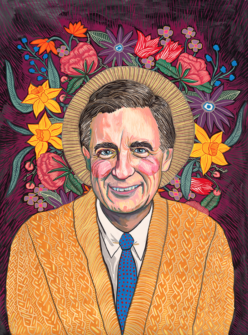 Mister Rogers Portrait II, 2019 (available via 20x200/Jen Bekman Projects)