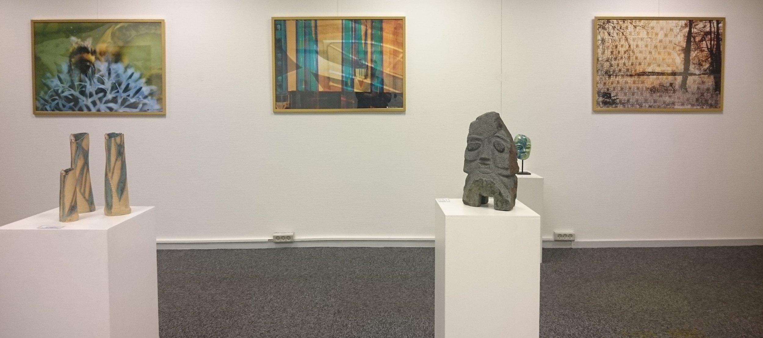 Eksempel på udstilling i Galleri Lolland, Maribo.