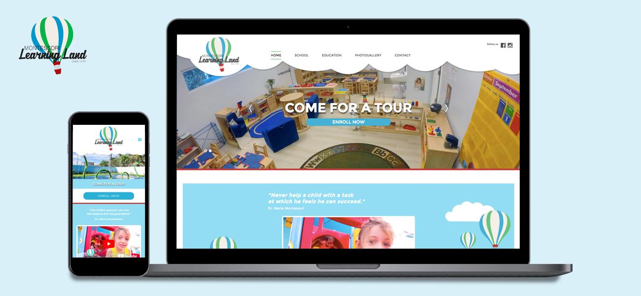 Website Montessori Learning Land
