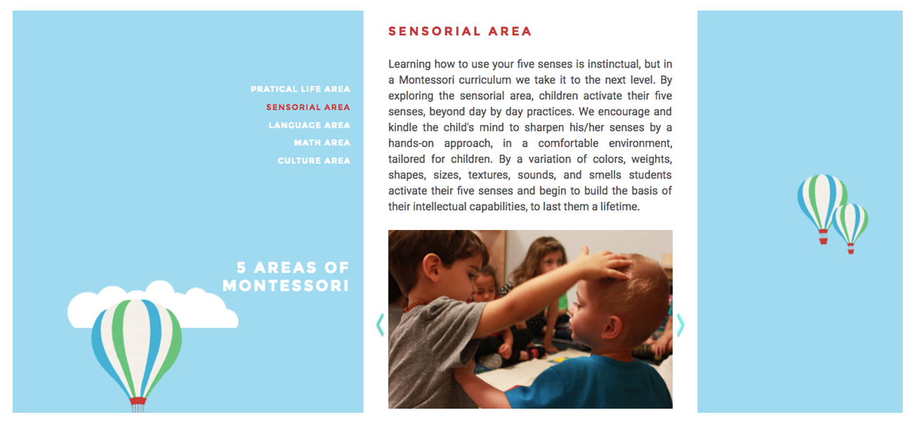 Site Montessori Learning Land_pages