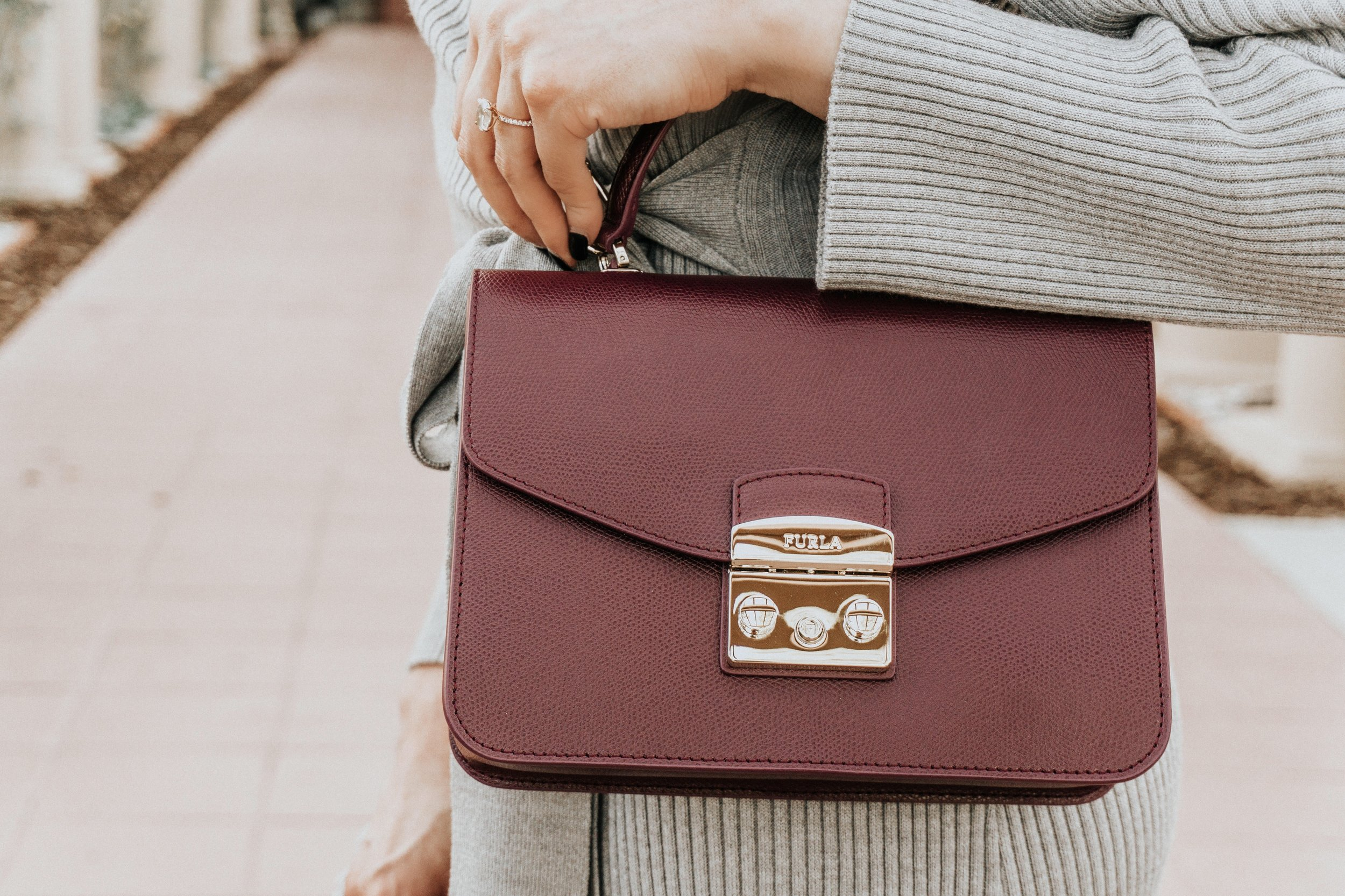 Get The Look - Furla Amaranto Bag | Osman Wrap Dress | Unisa Black Boot