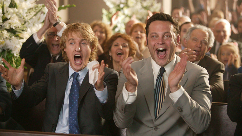 WEDDING CRASHERS - Starring Vince Vaughn, Owen Wilson, Rachel McAdams, Isla Fisher and Bradley Cooper