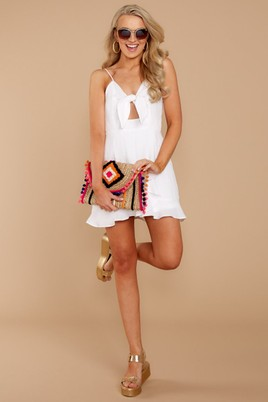 Made with love white mini dress