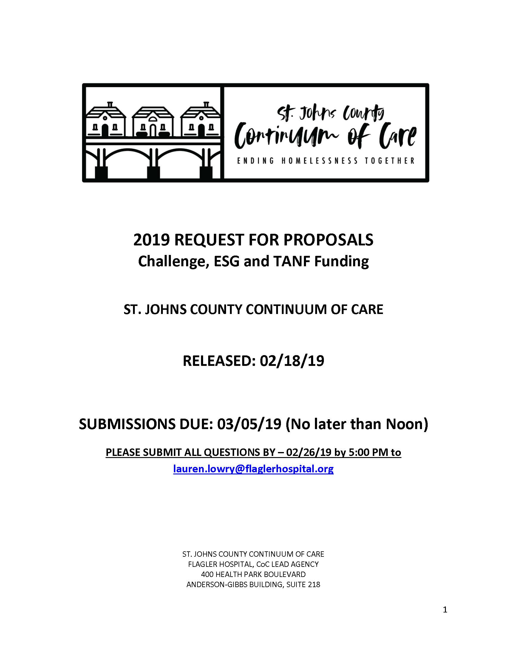 FY 19-21 RFP — St  Johns County Continuum of Care