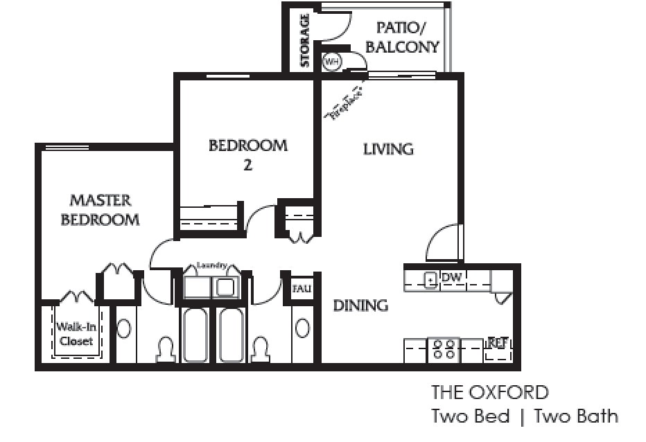 Oxford Two Bed Two Bath