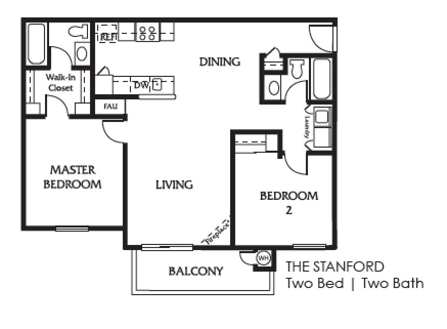 the Stanford  two bedroom two bath