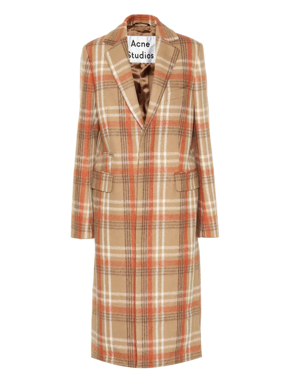 Acne StudiosChecked Wool-Blend Coat - (950€)