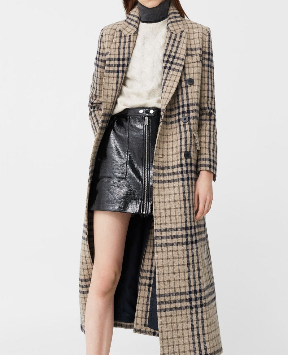 MangoCheck Wool-Blend Coat - (120€)