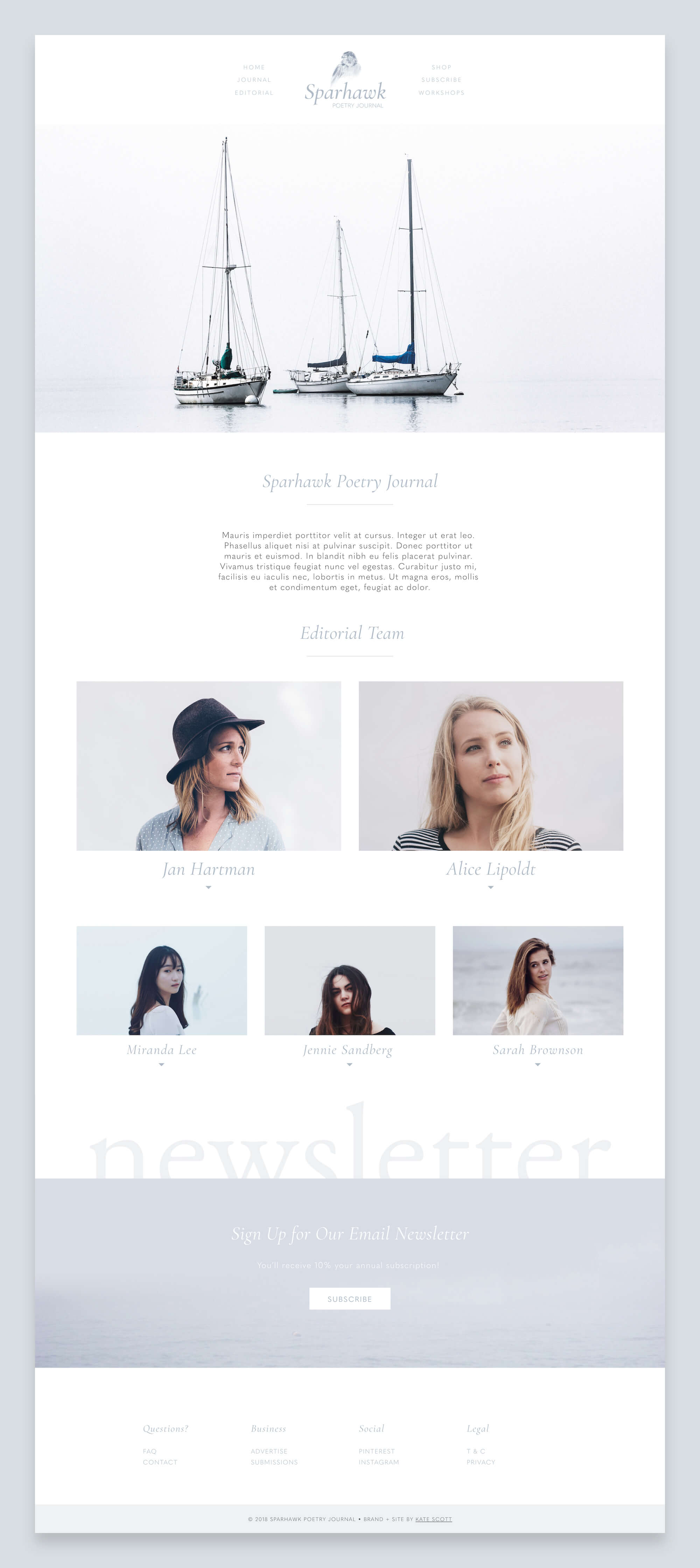 Sparhawk Editorial Custom Squarespace Web Design