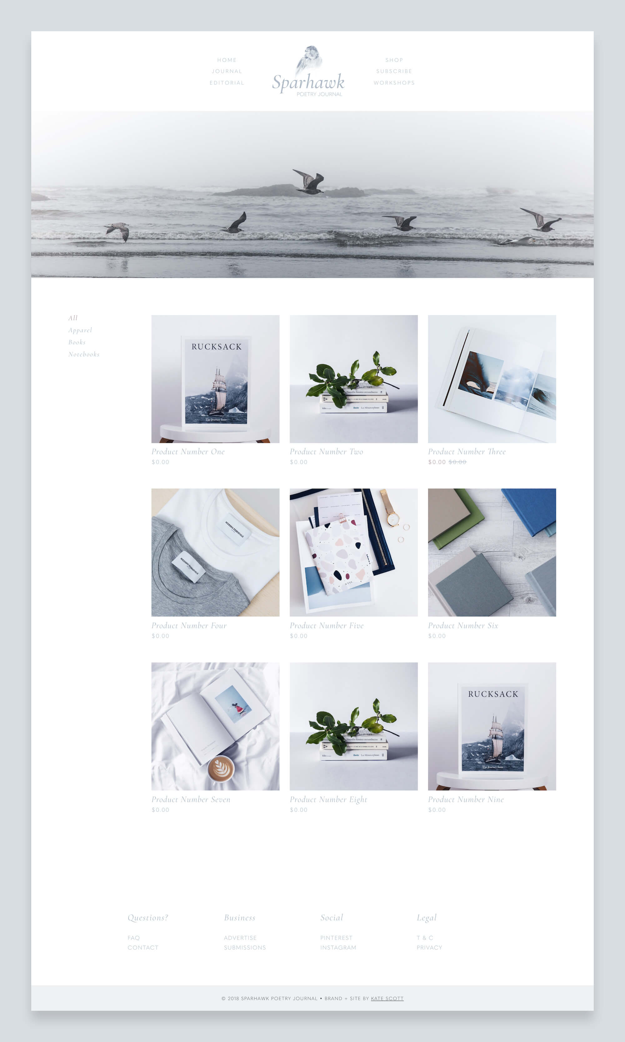 Sparhawk Ecommerce Custom Squarespace Design