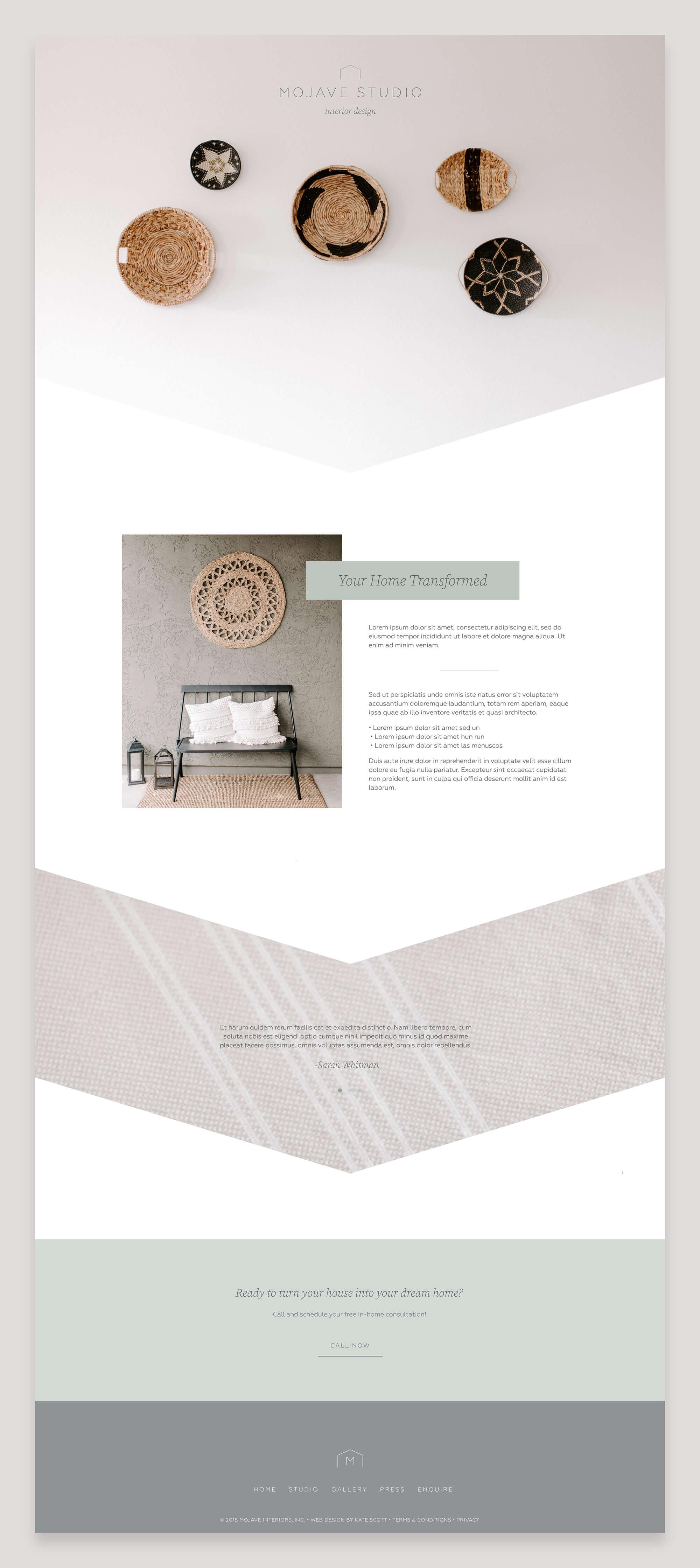 Mojave Studio Custom Squarespace Design