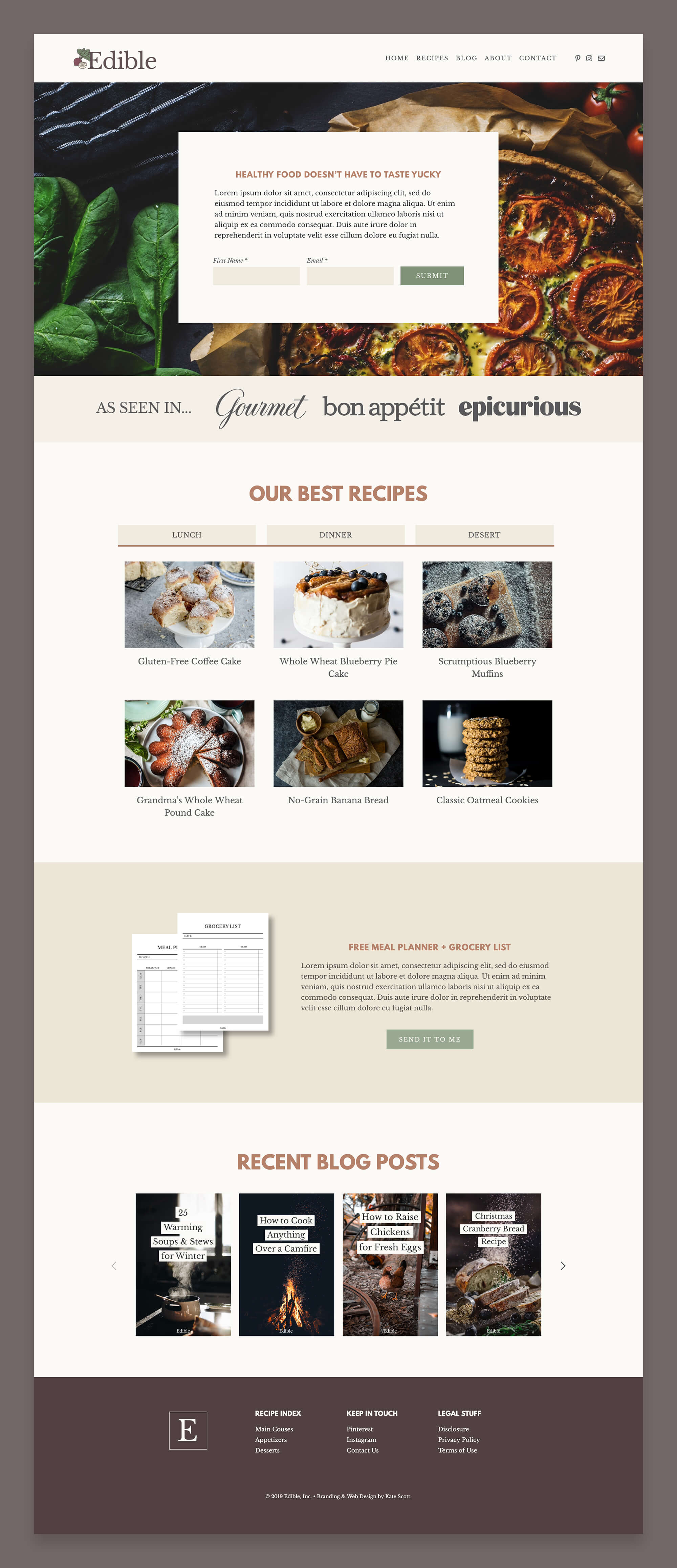Edible Custom Squarespace Website