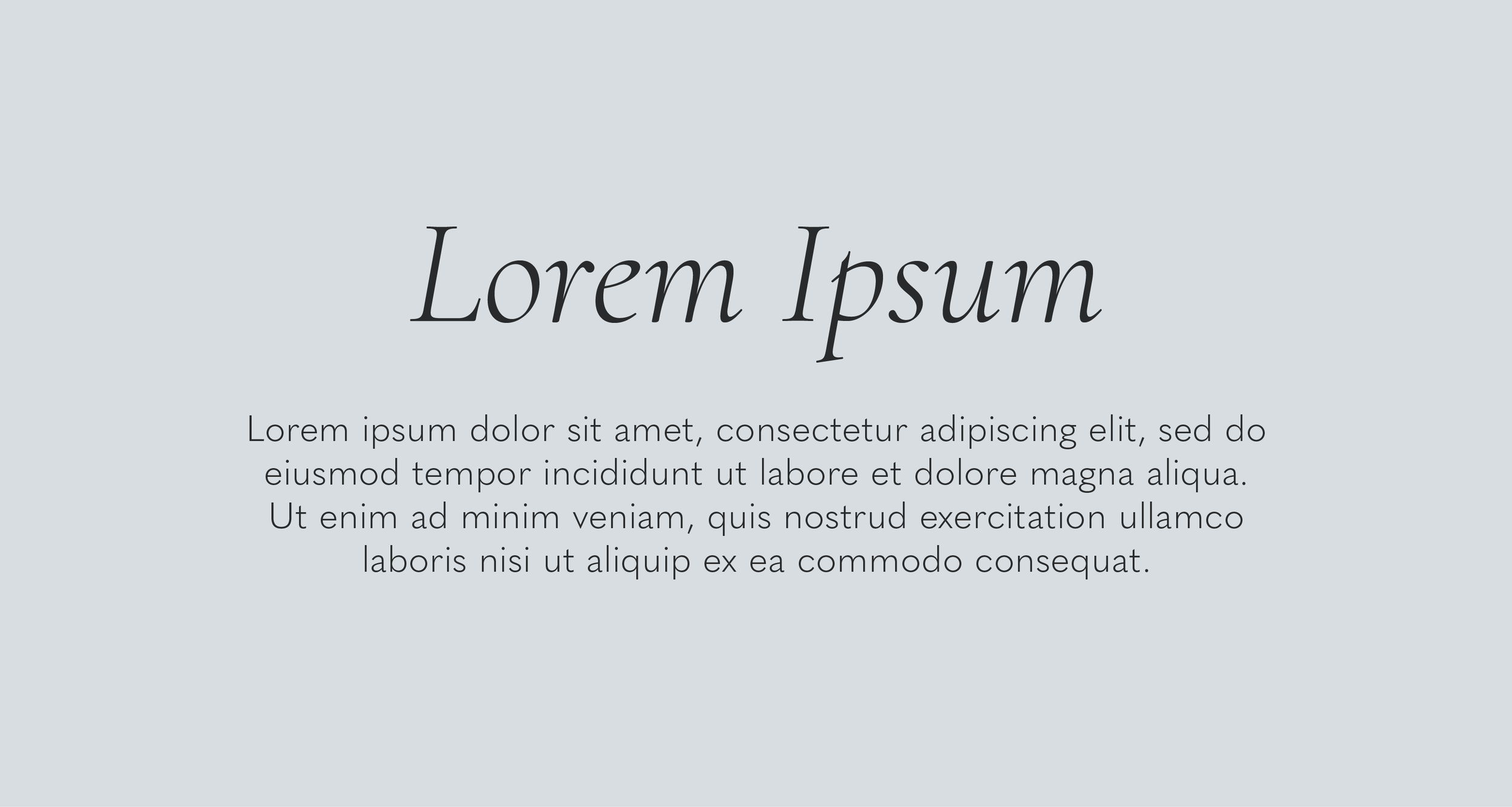 Cormorant Light Italic (header) paired with Quasimoda Light.