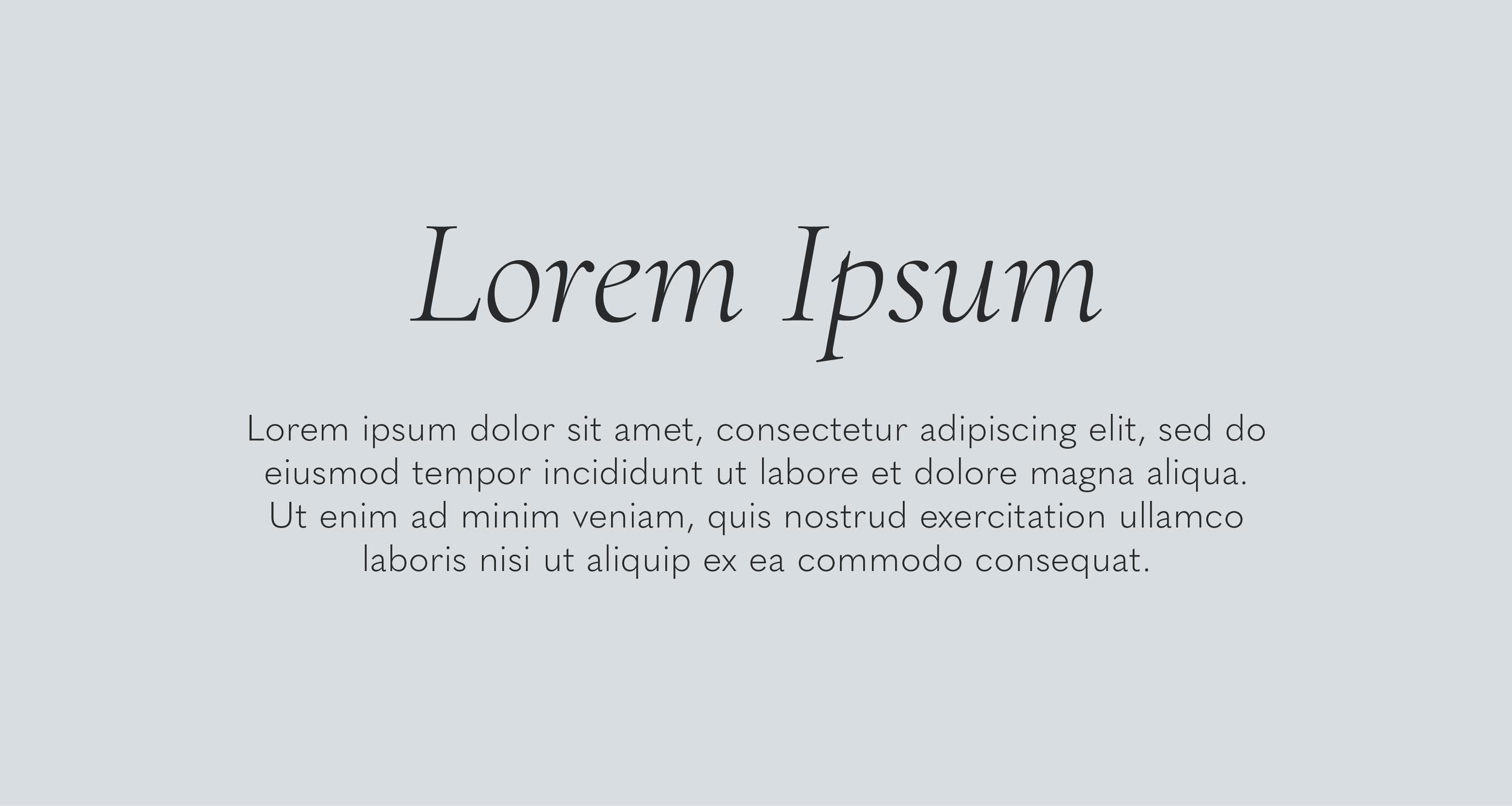 Cormorant Light Italic (header) paired with Quasimoda Light.