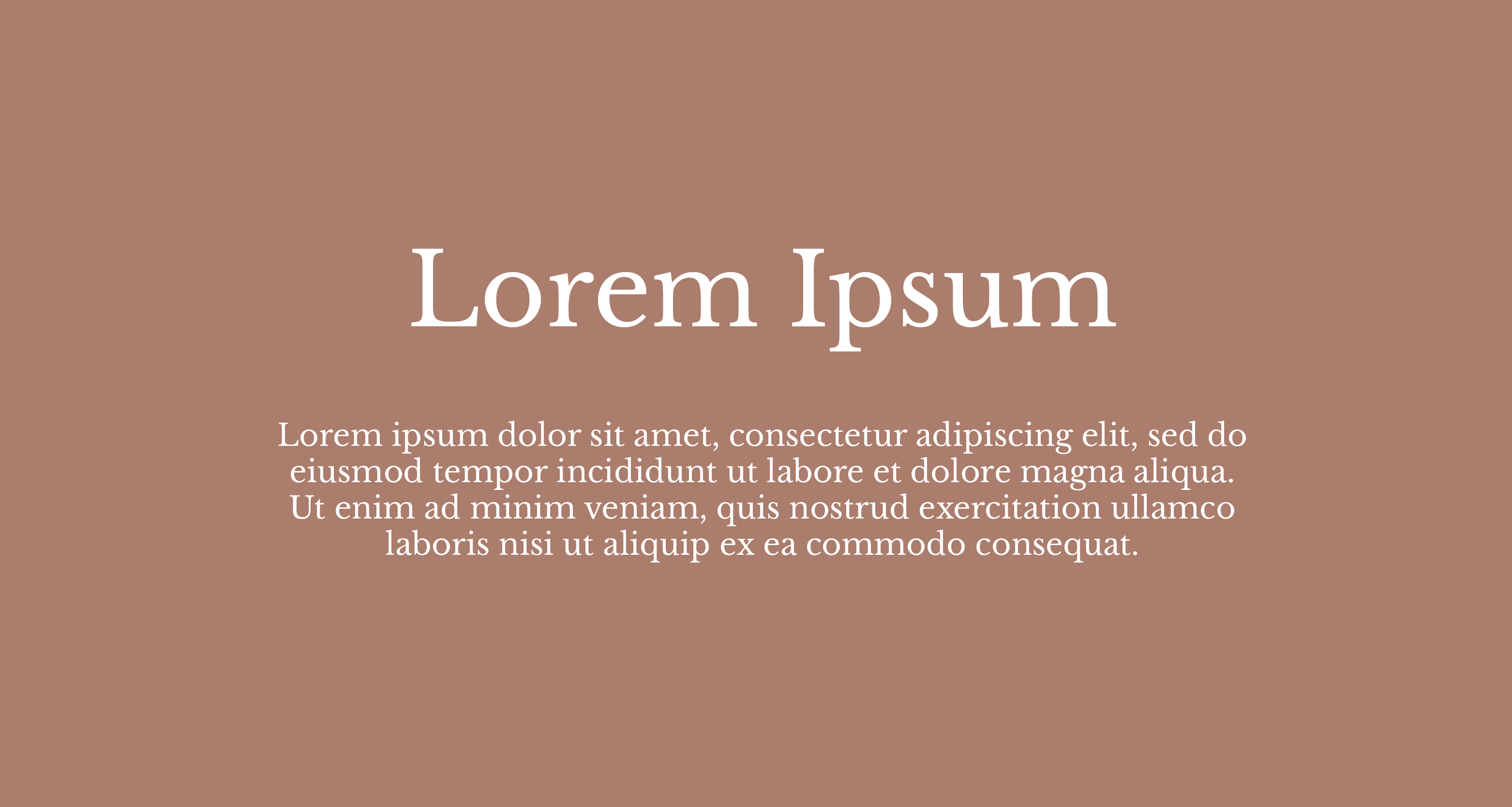 Libre Baskerville used as both header and body font.