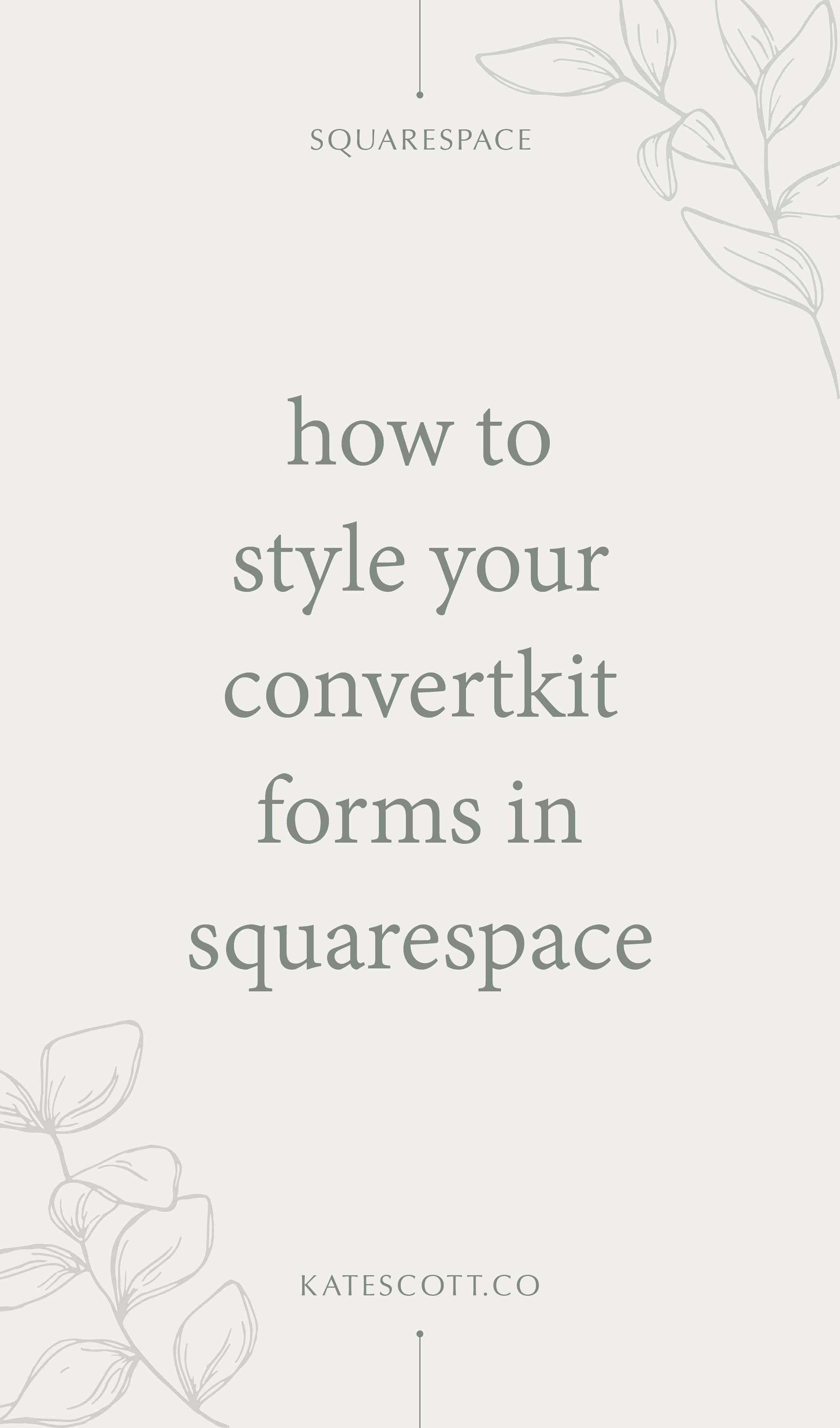 How to Customize Your ConvertKit Forms with Your Brand Fonts in Squarespace | Customize ConvertKit Form | ConvertKit Squarespace | Squarespace ConvertKit | Squarespace Tips | ConvertKit Tips | ConvertKit Tutorial | Squarespace Tutorial | #convertkit #emailmarketing #emailmarketingtips #onlinemarketing #marketing #squarespace #squarespacetips #squarespacetutorial