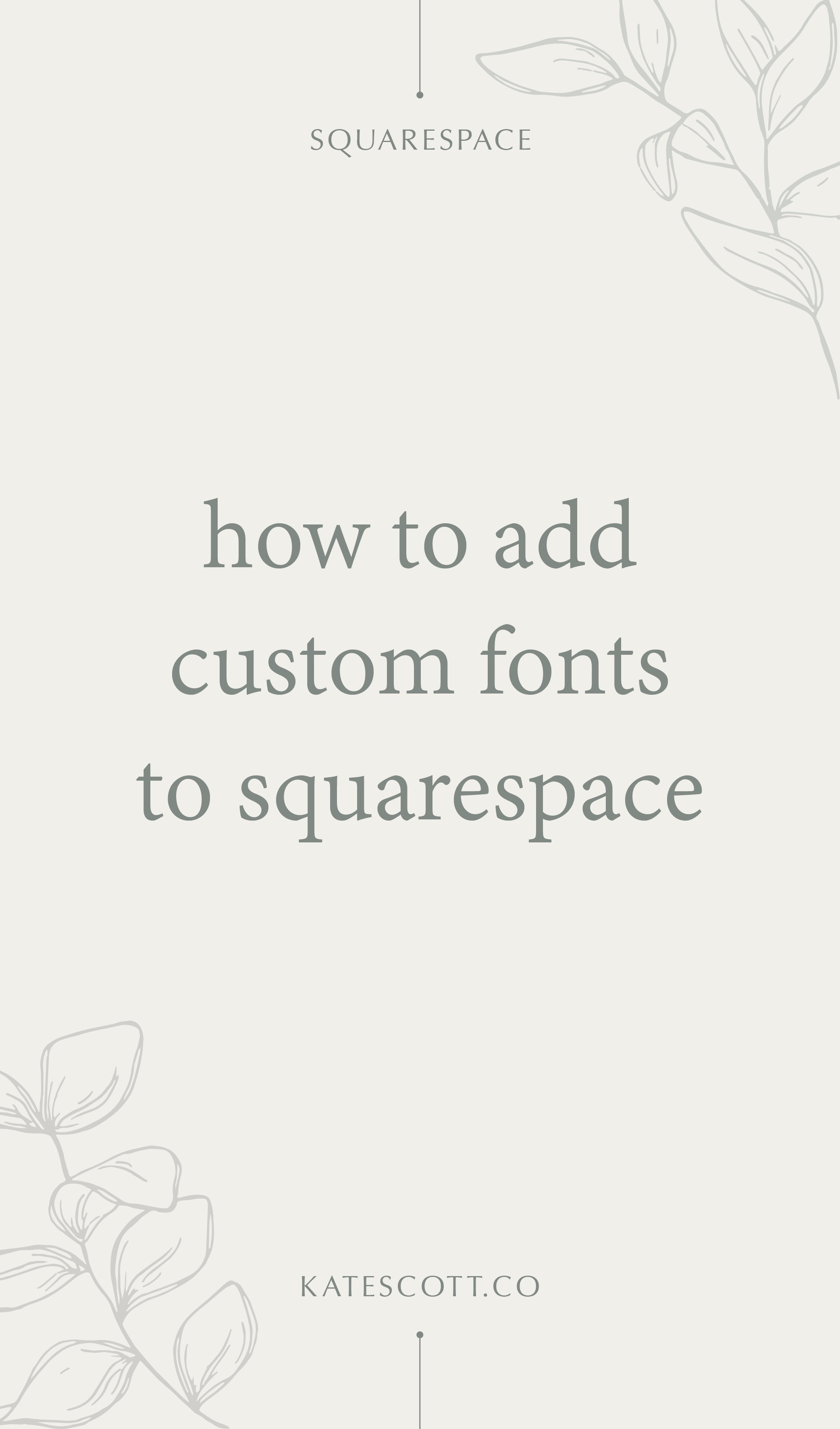 How to Add Custom Fonts to Your Squarespace Website | Squarespace Customizations | Custom Fonts Squarespace | Squarespace Tutorial Videos | #squarespace #squarespacetips #squarespacetutorial #fonts