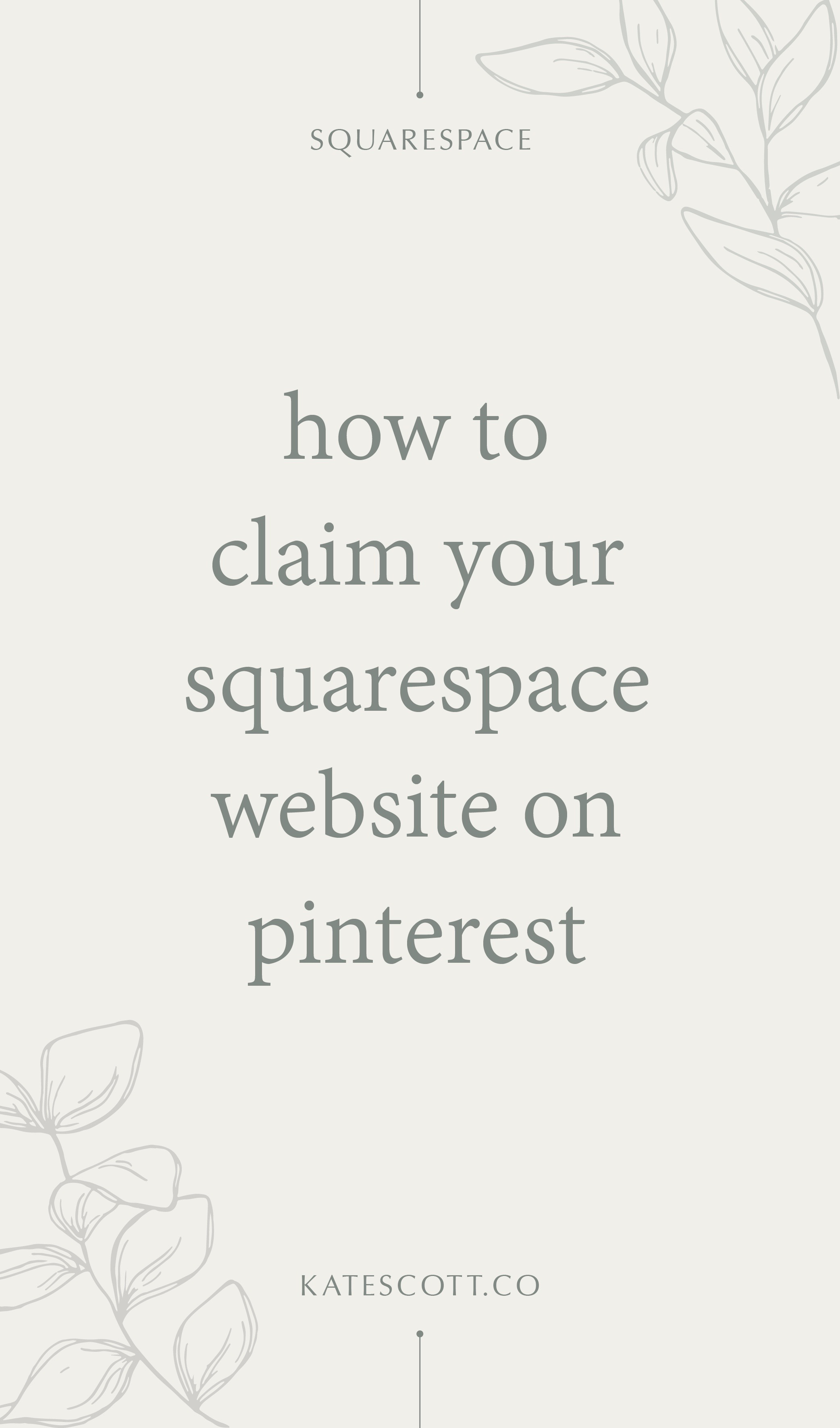 How to Claim Your Squarespace Website on Pinterest (Video Tutorial + Step-by-Step Instructions) | Squarespace Tutorial | Pinterest Tutorial | How to Claim Website on Pinterest | #squarespace #pinterest #squarespacetutorial #pinteresttutorial