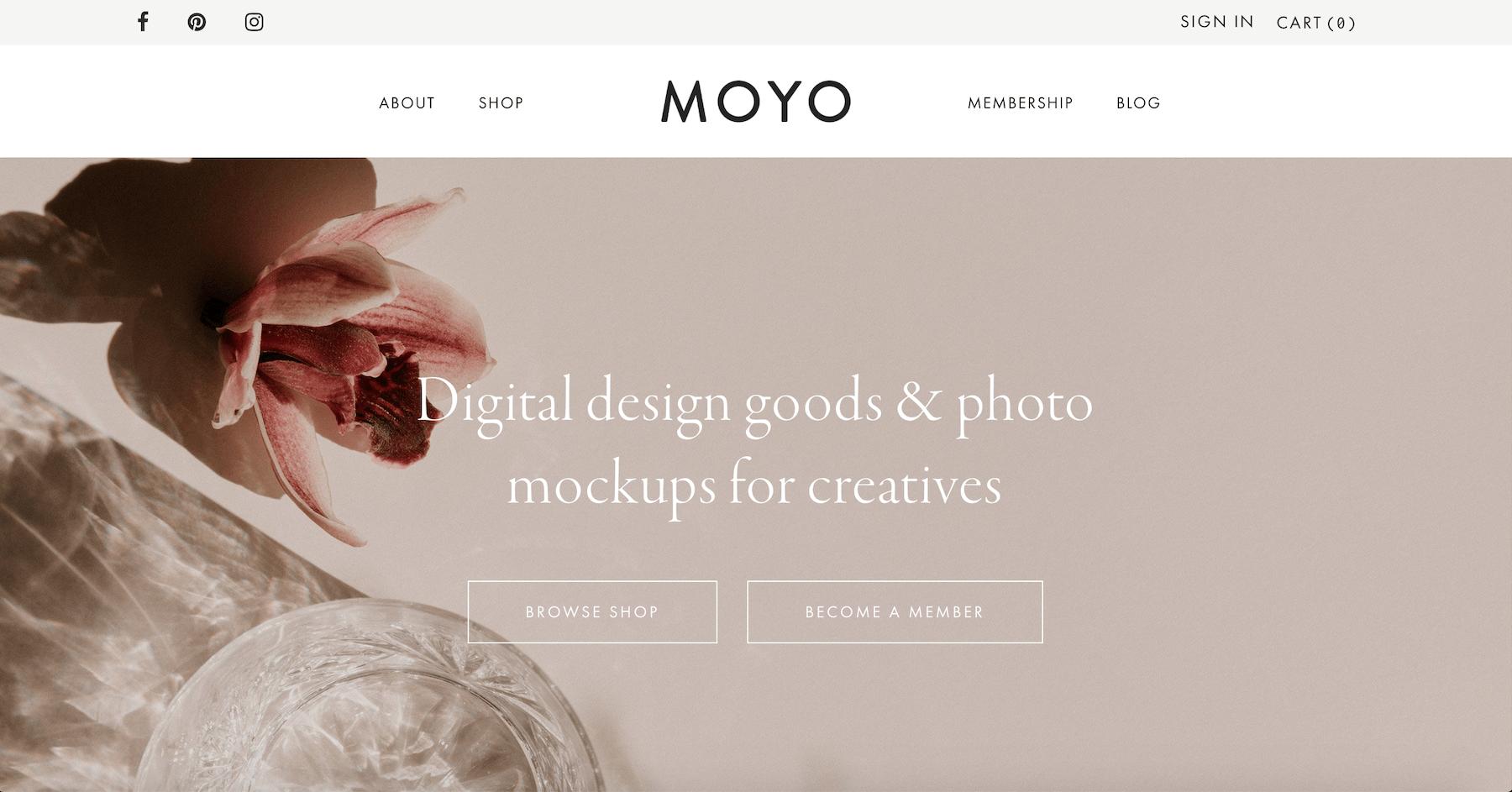 Moyo Studio - Digital Design Goods and Photo Mockups for Creatives