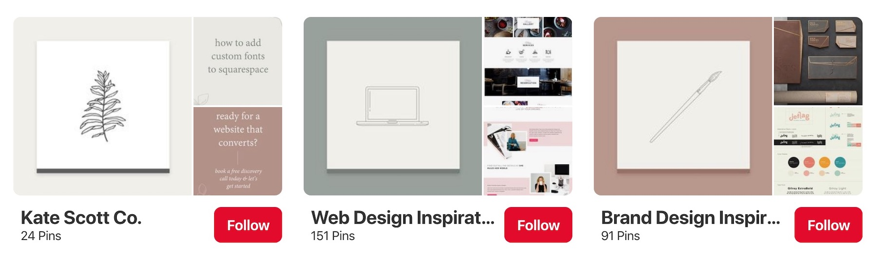 My Pinterest Boards