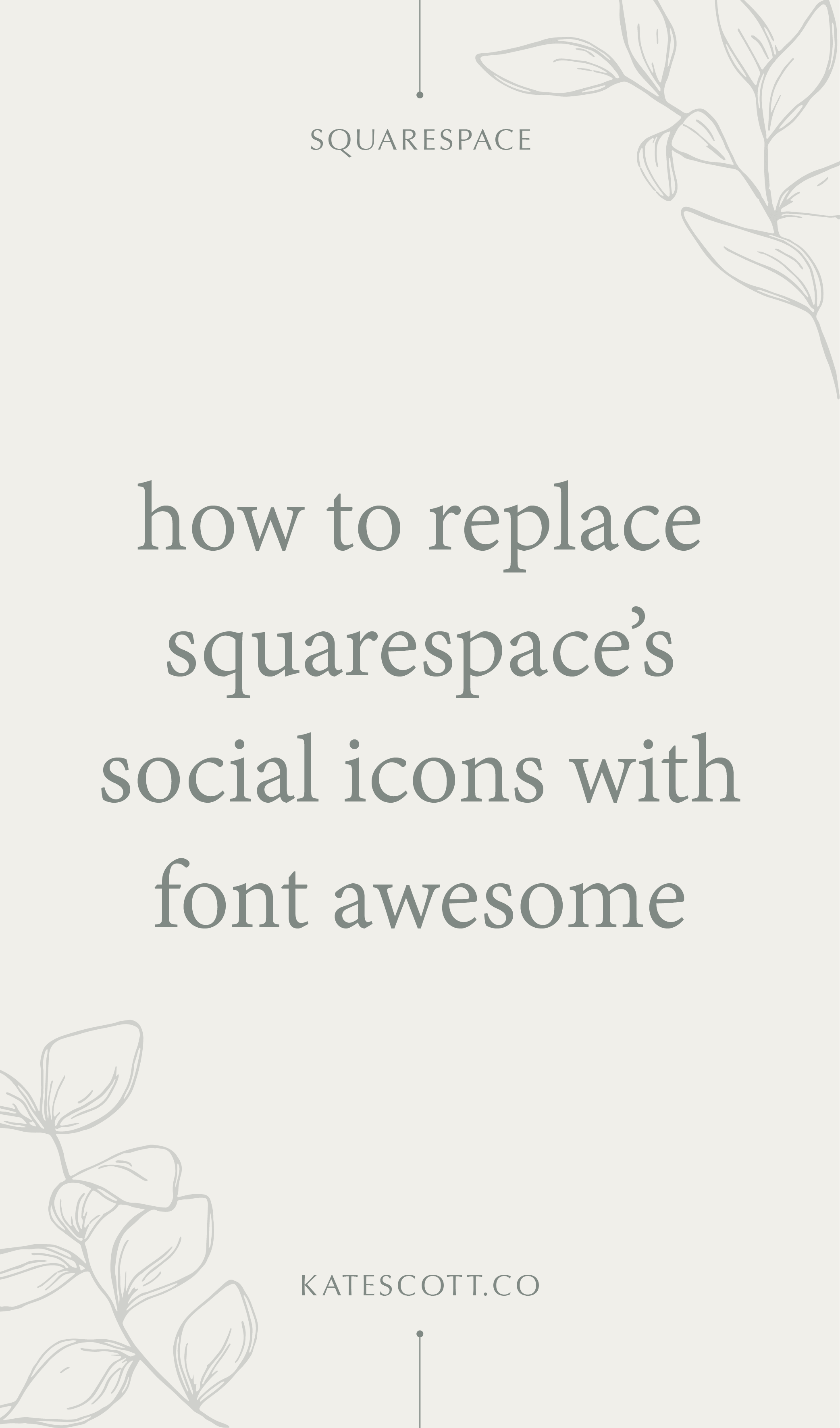 Squarespace's social icons are a hot, mismatched mess. Here's how you can replace them with elegant matching Font Awesome icons! | Squarespace Tutorial Design | Fontawesome Icons | Web Design Tutorial | Squarespace Design