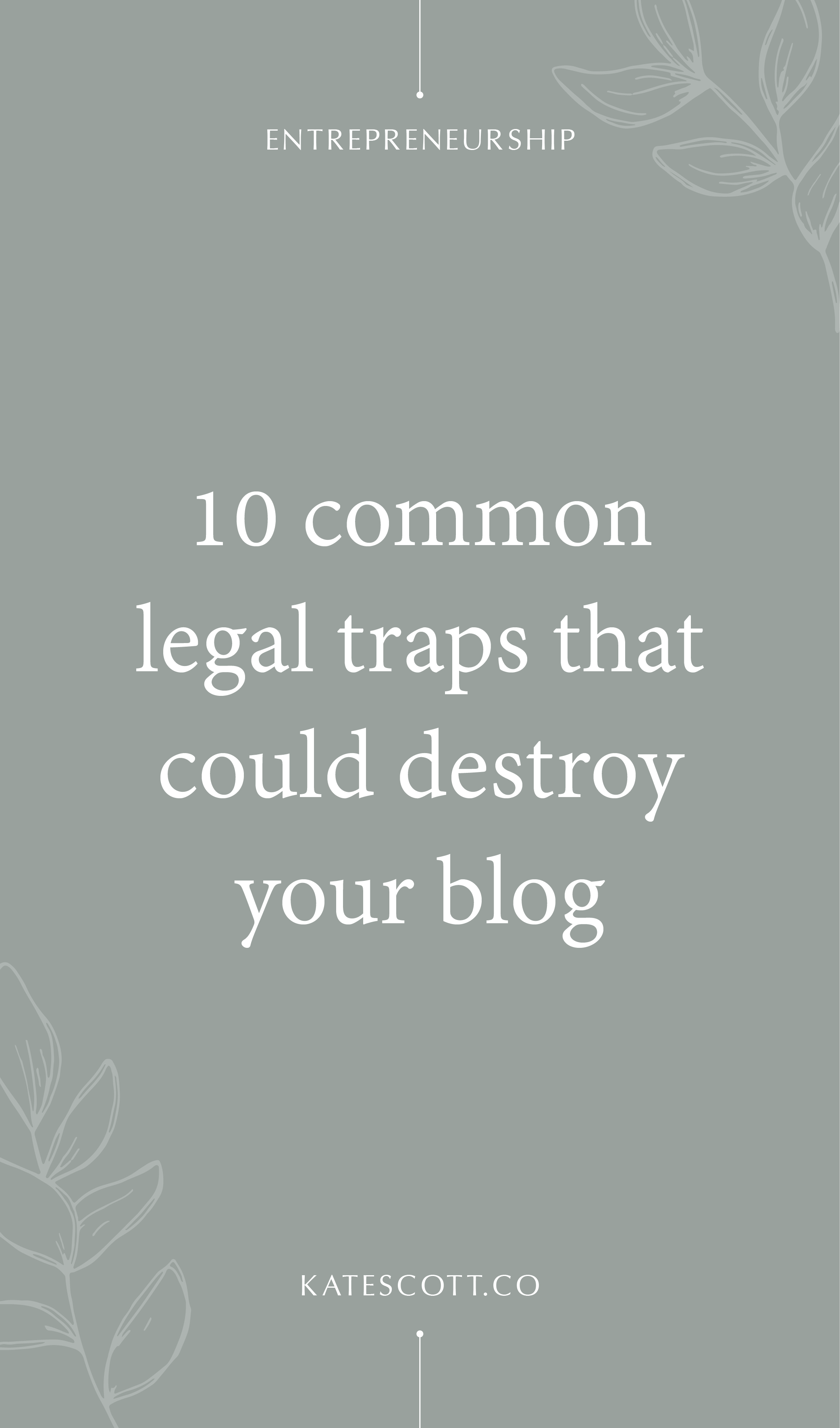 Worried about getting sued, fined, or audited for accidentally breaking the law with your blog? Avoid the wrath of the FCC, IRS, and USPTO gods by reading about these 9 common legal traps that could put a serious damper on your blog and biz. (Not to mention your bank account!) I'll show you how to keep it legal and protect your assets! | Blogging Legal Stuff | Copyright Laws | Blog Legal | Blog Legalities | Blogging Legally 101 | Legal Blogging Tips | Blog Law 101