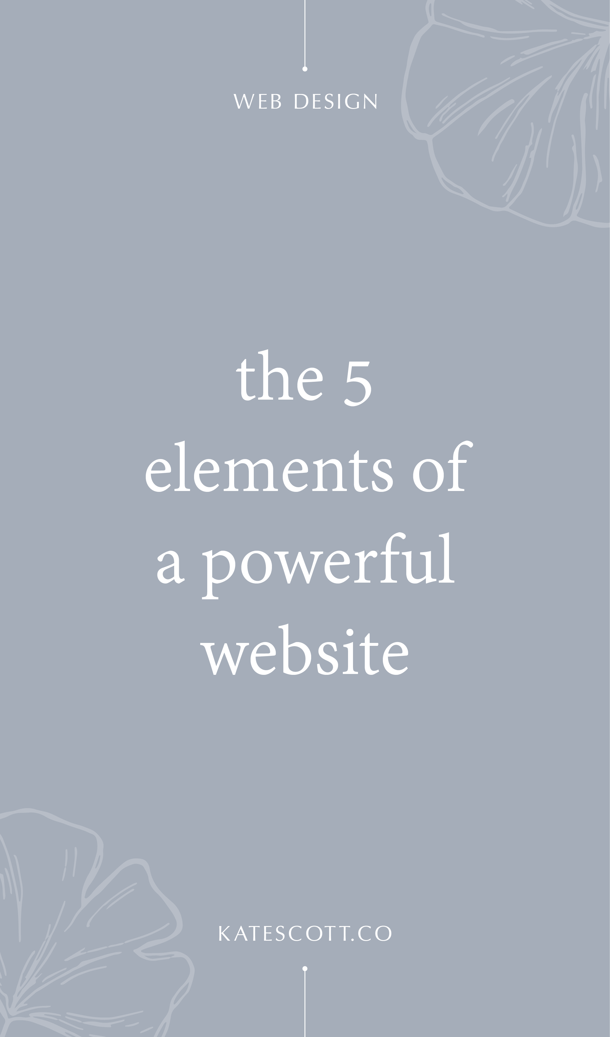Your website has the potential to be one of the most powerful marketing and conversion tools for growing your business. Here are the 5 elements of a powerful website. | How to Build a Website | Website Marketing Tips | Website Marketing Strategy | Branding Design | Copywriting Tips