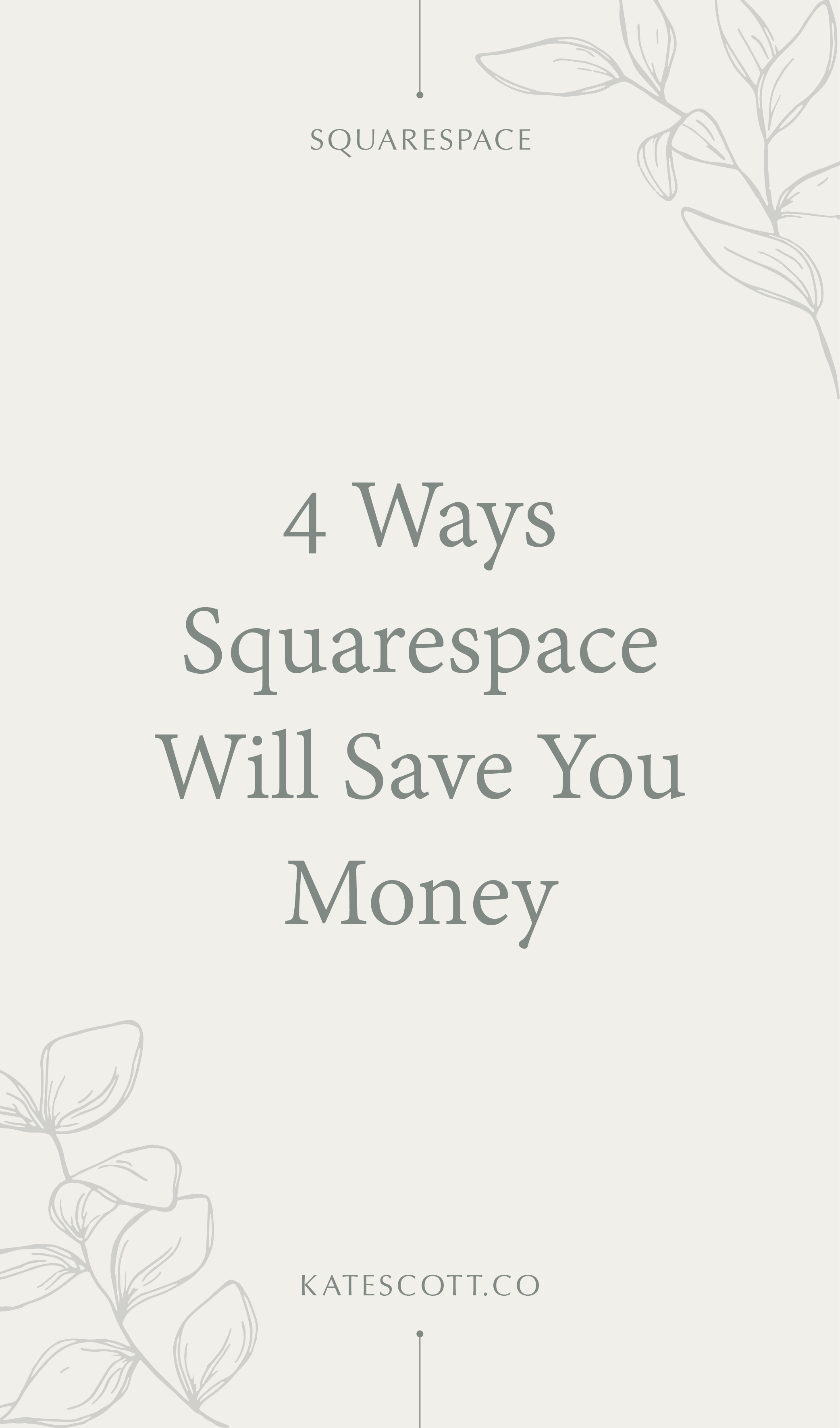 Wondering if you should go with Wordpress or Squarespace? Here are 5 ways Squarespace will save you money. | Squarespace for Beginners | Squarespace for Business | Squarespace for Blogging | Wordpress vs Squarespace | #entrepreneur #squarespace