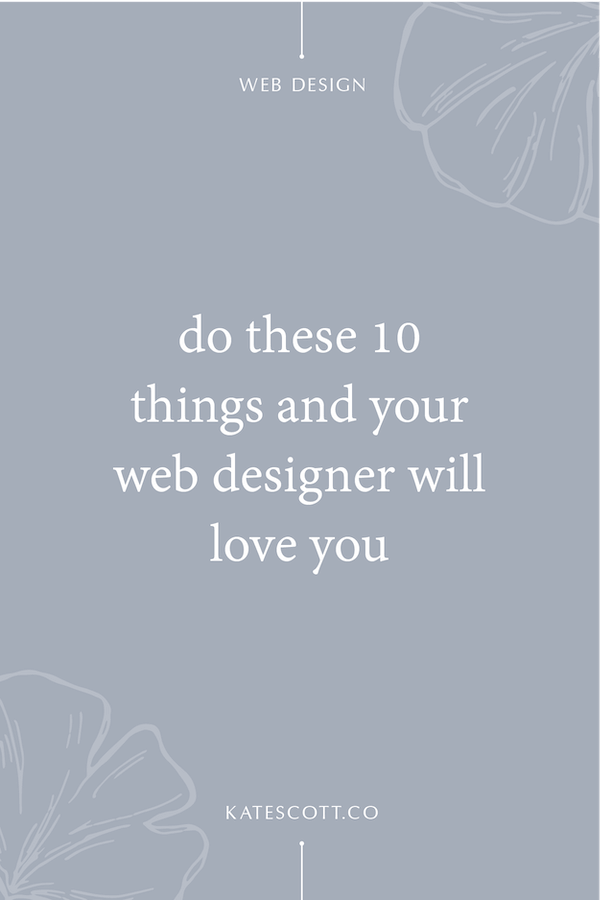 How To Have An Amazing Relationship With Your Web Designer Squarespace Designer Kate Scott