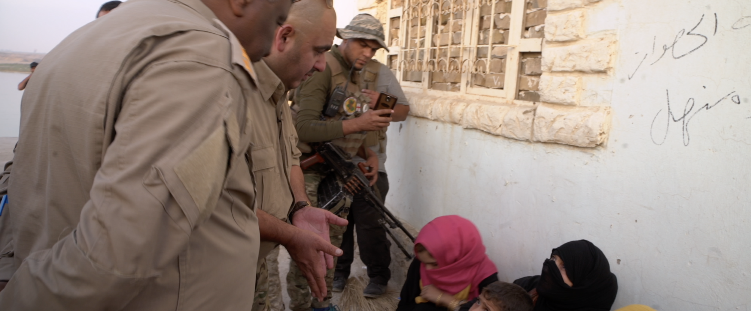 Women rescued from ISIS occupied region are questioned  .png