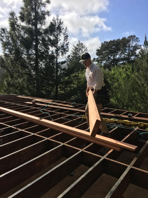 Craig working on his home deck project in Woodace, CA