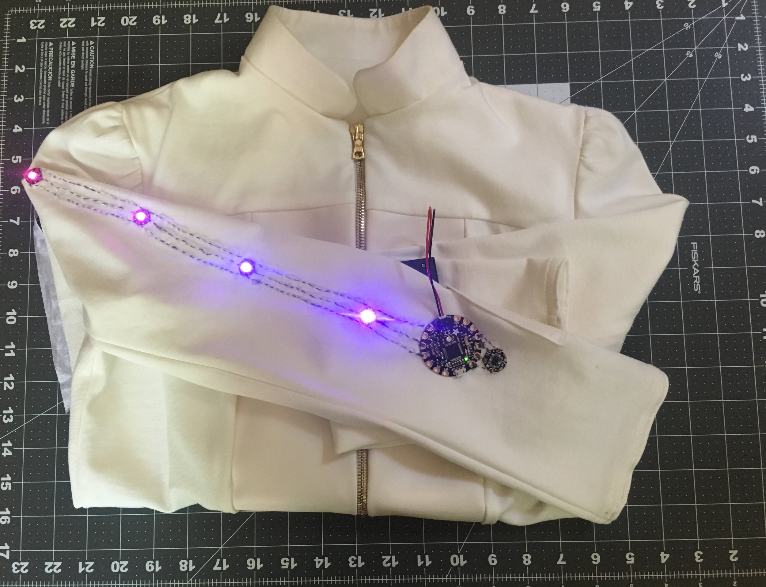 engineering - We use conductive thread to sew our clothes, we use LEDs, circuit boards, accelerometers, heat sensors and more, we hack solar panels, we solder, 3D print and build the parts we need to create wearable technology.