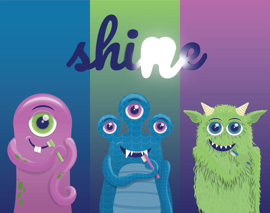 Three featured monster characters named Mary, Milo, and Monty.