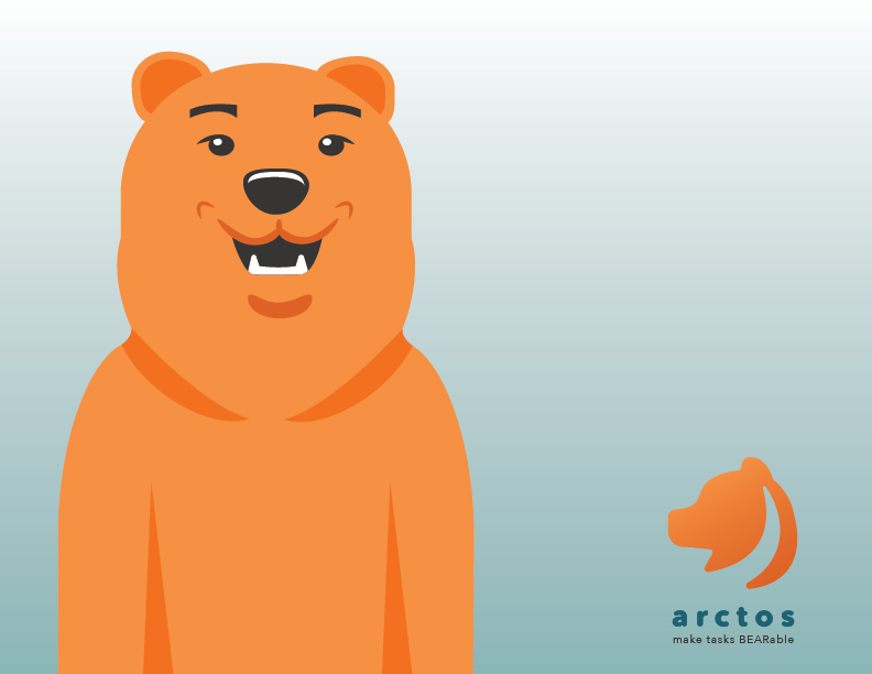 Bear character found within the app. He makes occasional appearances and helps communicate instructions to the user. Want to try it out? Click this image!