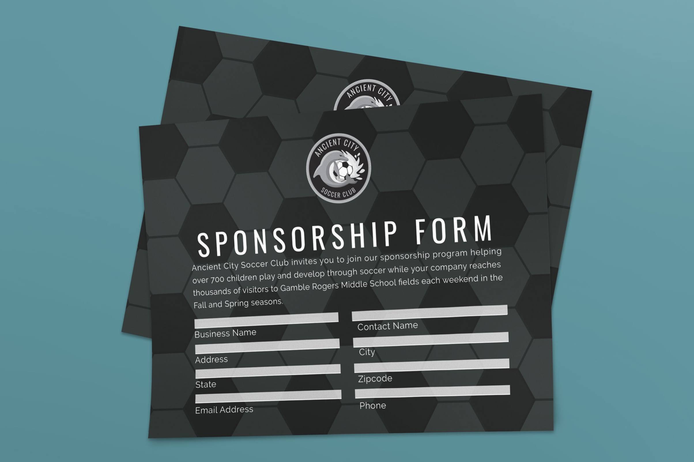 Form for possible sponsors to complete and send back.