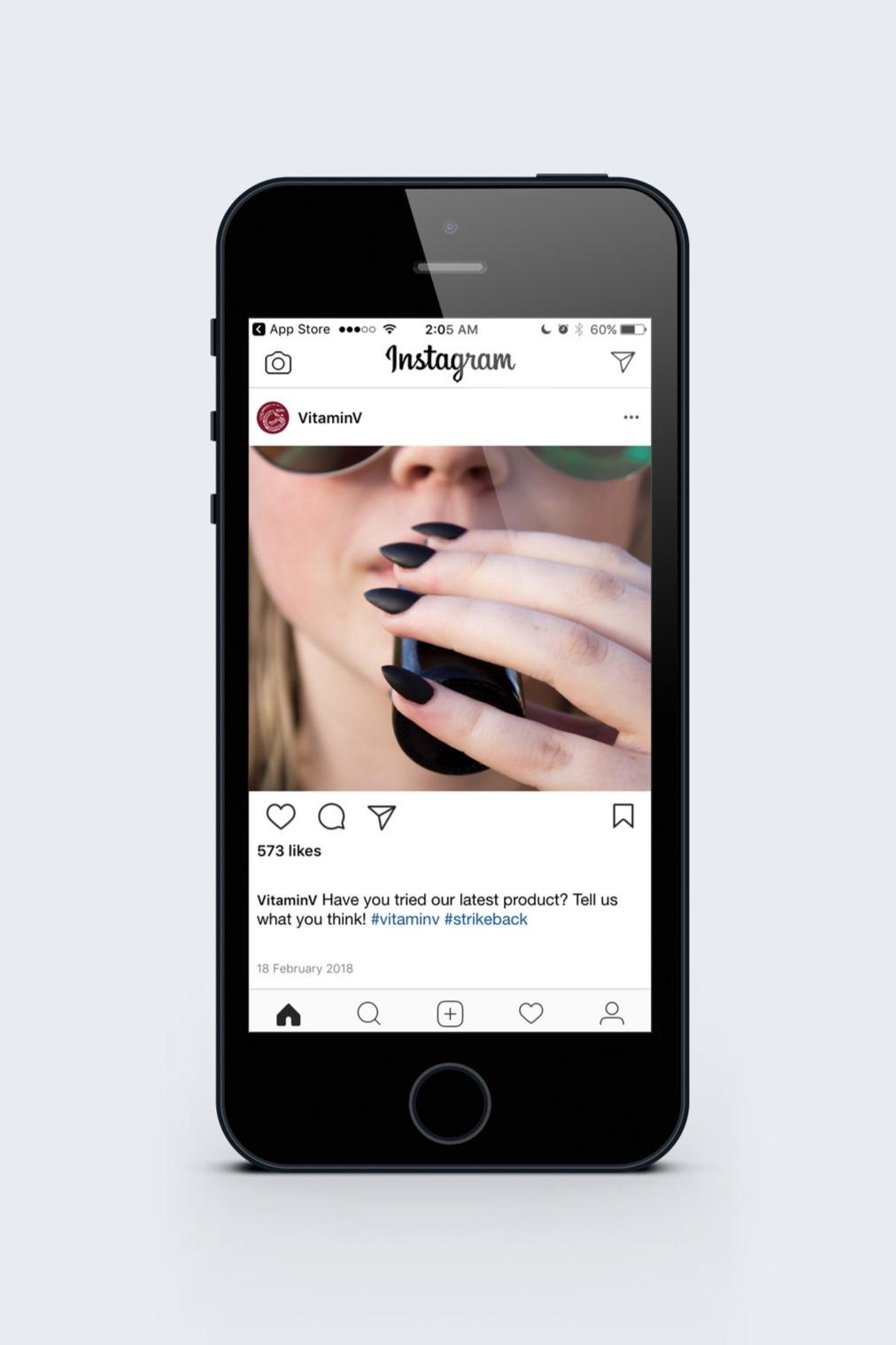 Digital advertising example via Instagram