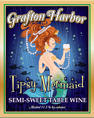 Tipsy Mermaid - Semi-Sweet Table WineOur luscious semi-sweet white wine expresses a light crisp balance that boasts of orchard sweetness. Its light, wonderful flavor excites any Tipsy Mermaid!