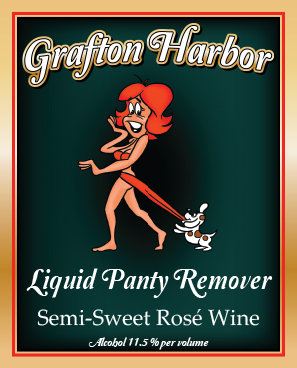 Liquid Panty Remover - American Semi-Sweet RoséOur Liquid Panty Remover is a light and refreshing, semi-sweet wine with a distinct grapey Concord character. Our long cool fermentation preserves the fruity nature of the grape making it a crisp tantalizing wine for your special someone!