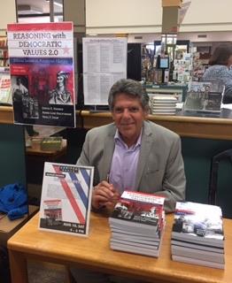 Author, Dr. David Harris, at a book signing at Horizon Books.