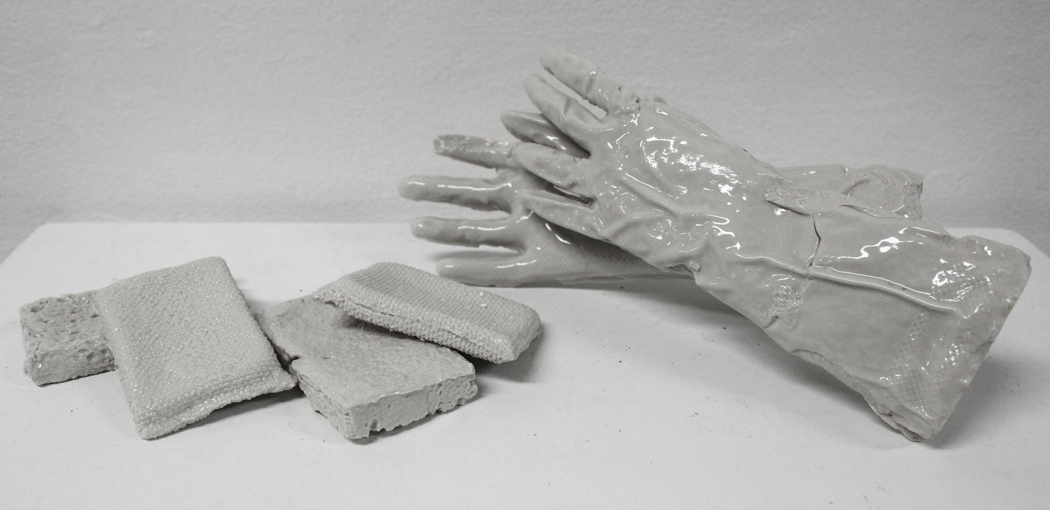 Rubber Gloves & Cleaning Sponges