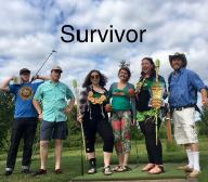 Team Survivor mugs for the camera