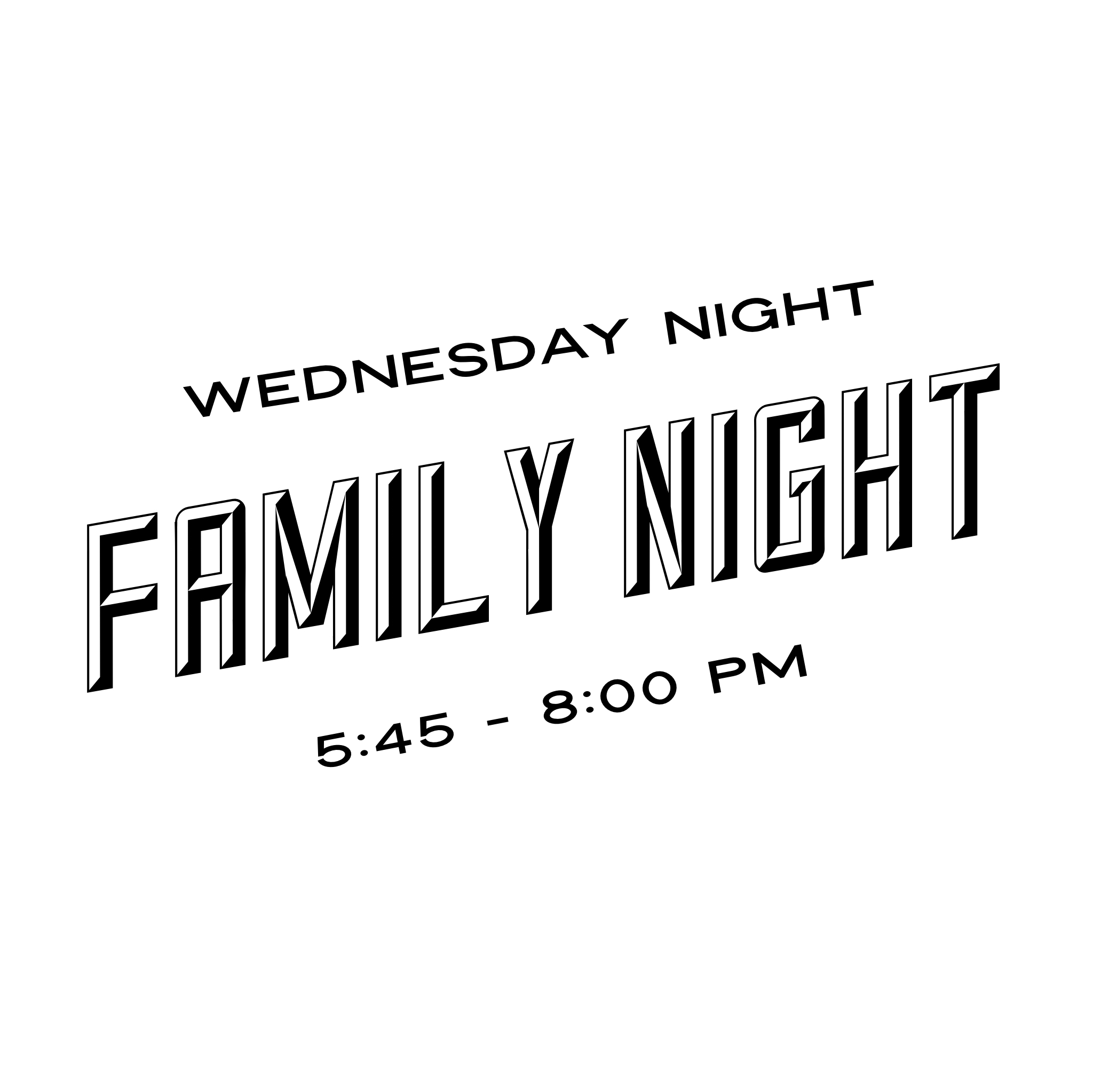 Family Night - 5:45 Pizza for all6:30 Kids4Truth (K - 8th grade), BLAST412 (High School), College & Career, Men's and Ladies' Bible Study