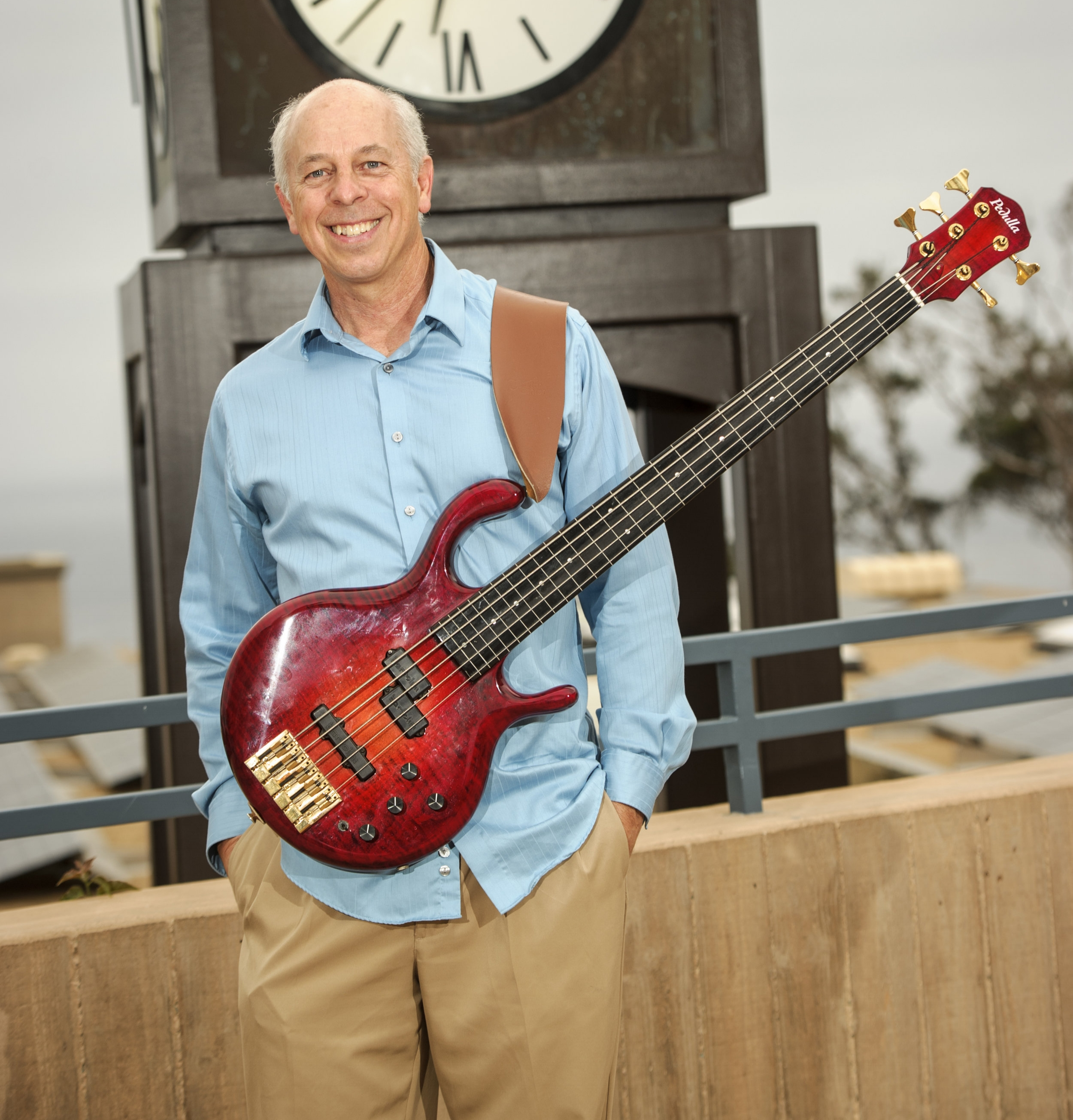 Lance Jeppesen - BASSDr. Lance Jeppesen, a California native, has been playing bass since his early teens. Lance briefly attended Utah State University on a music scholarship but left to the calling of a good road gig. He has played many different genres of music since then and has traveled extensively in his music career throughout North America, before settling in San Diego. He has shared venues with the likes of  Shirley Jones, Shelly Berman, Bernie Dresel, Dean Brown, Eric Marienthal, Bill Acosta to name but a few. He credits his influences being that of Stanley Clarke and Jaco Pastorius as changing his approach towards the bass and as well as music in general. By day, Lance manages a multidisciplinary medical office and practices chiropractic with his wife Jill-Ellen. He has been the bassist in The Ira B. Liss Big Band Jazz Machine since the late 1980's.