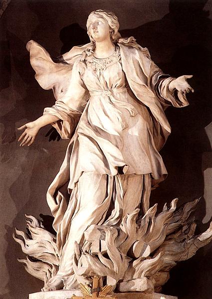 The Death of St. Agnes, by Ercole Ferrata